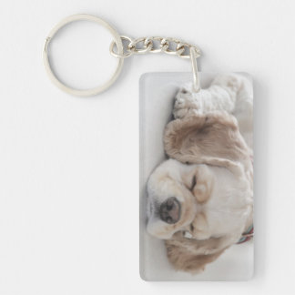 Cocker spaniel-Hundeschlafen Schlüsselanhänger