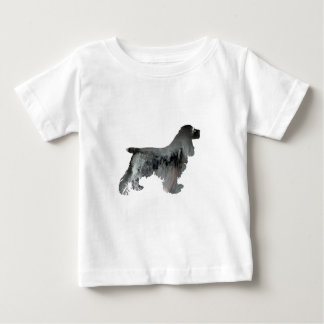Cocker spaniel-Kunst Baby T-shirt