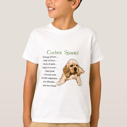 Cocker spaniel-Liebhaber-Geschenke T-Shirt