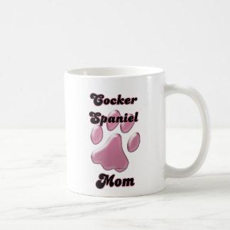 Cocker spaniel-Mamma-Rosa Pawprint Kaffeetasse