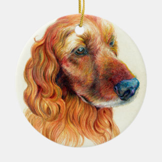 Cocker spaniel-Porträt Rundes Keramik Ornament