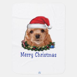 Cocker spaniel puppie Weihnachten Kinderwagendecke