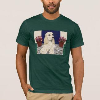 Cockerspaniel auf T-Stück der Kopfsteine w/Chrys T-Shirt