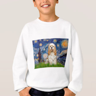 Cockerspaniel (Büffelleder) - sternenklare Nacht Sweatshirt
