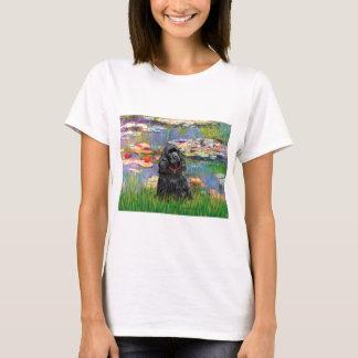 Cockerspaniel (Schwarzes) - Lilien 2 T-Shirt