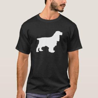 Cockerspaniel-Silhouette im Weiß T-Shirt