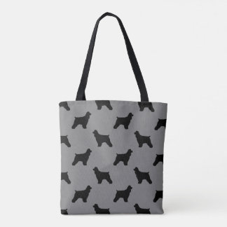 Cockerspaniel-Silhouette-Muster-Grau Tasche