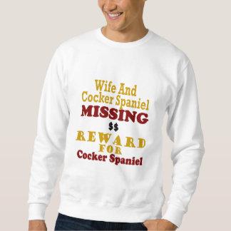 Cockerspaniel u. Ehefrau-vermisste Belohnung für Sweatshirt