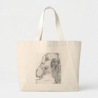 Cockerspanielhund, der Eliana zeichnet Jumbo Stoffbeutel