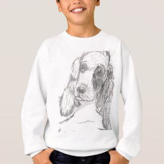 Cockerspanielhund, der Eliana zeichnet Sweatshirt