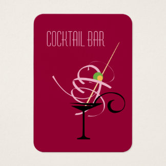 Cocktail-Bar-Nachtklub-Barkeeper Visitenkarte