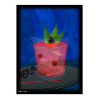 Cocktail: BlackBerry-Blues Poster