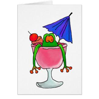 Cocktail-Frosch Karte