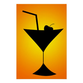 Cocktail-Glas-Plakat Poster