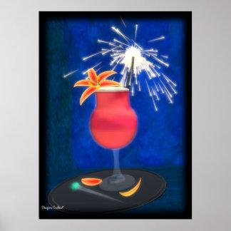 Cocktail: Glücklicher Drache Poster