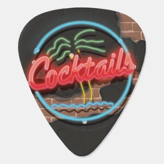 Cocktail-Nachtklub-Neon Gitarren-Pick