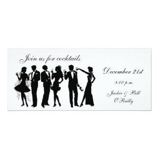 Cocktail-Party-Leute 10,2 X 23,5 Cm Einladungskarte