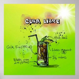 Cocktail-Plakat Kubas Libre Poster
