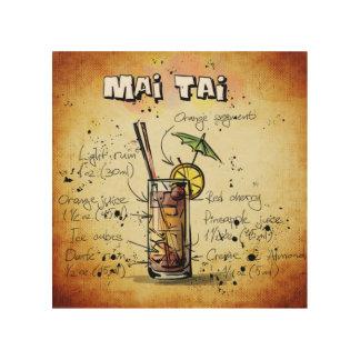 Cocktail-Rezept MAI Tai Holzleinwände