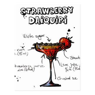 Cocktail-Rezept Strawbeery Daiquiri Postkarte