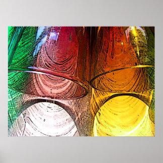 Cocktail-Schuss-Gläser - nahes hohes Poster