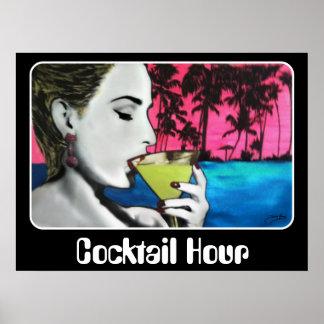"""""""Cocktail-Stunde"""" auf einem Plakat"""