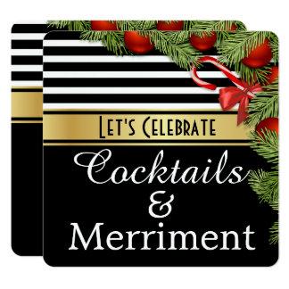 """""""Cocktail-u. Belustigungs-"""" Feiertags-Party Karte"""
