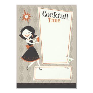 Cocktail-Zeit 12,7 X 17,8 Cm Einladungskarte