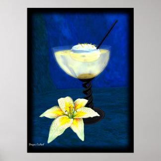 Cocktail: Zitronen-Meringe Poster