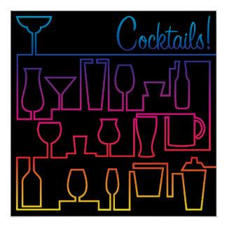Cocktaillabyrinth Perfektes Poster