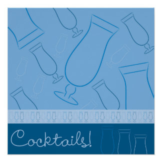 Cocktails! Perfektes Poster
