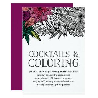 Cocktails und Farbton-Party Einladung