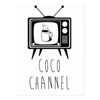 Coco-Kanal niedlich, stilvoll Postkarte