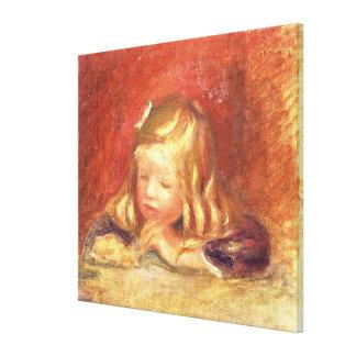 Cocos am Tisch Lesung) (Claudes Renoir 1905 (oi Galerie Falt Leinwand