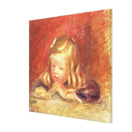 Cocos am Tisch Lesung) (Claudes Renoir 1905 (oi Leinwanddruck