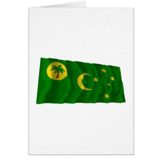 Cocos-Inseln, die Flagge wellenartig bewegen Karte