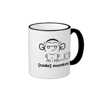[Code-] Affe-Kaffee-Tasse Ringer Tasse