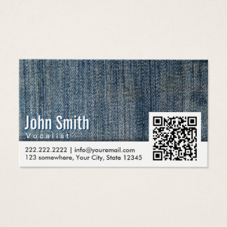 Code der Sänger-Blue Jeans-QR Visitenkarte