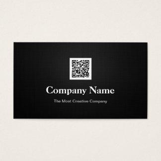 Code-Logo Premium Black White Company Geschäfts-QR Visitenkarten