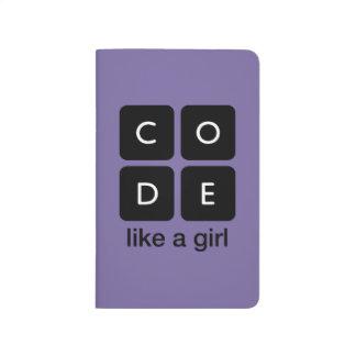 Code mögen ein Mädchen Taschennotizbuch