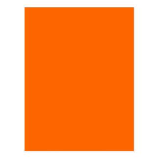 Code-Netz-Farborange der Hexe-#FF6600 Postkarte