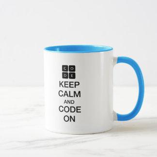 """Code.org """"behalten Ruhe und Code auf """" Tasse"""