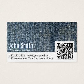 Code-Rechtsanwalts-Visitenkarte der Blue Jeans-QR Visitenkarte