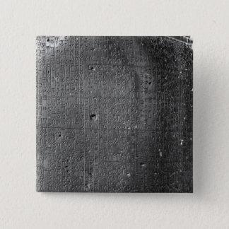 Code von Hammurabi, Detail der Spaltenaufschrift Quadratischer Button 5,1 Cm