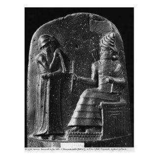 Code von Hammurabi, Spitze des Stele Postkarte