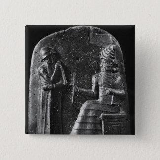 Code von Hammurabi, Spitze des Stele Quadratischer Button 5,1 Cm