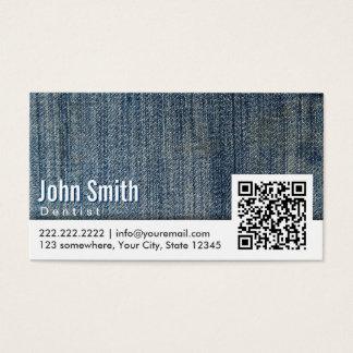 Code-Zahnarzt-Visitenkarte der Blue Jeans-QR Visitenkarte