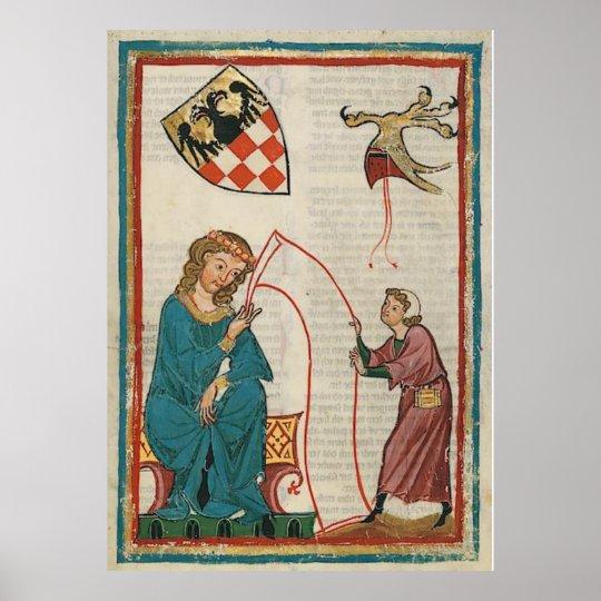 Codex Manesse - Graf Otto von Botenlauben Poster