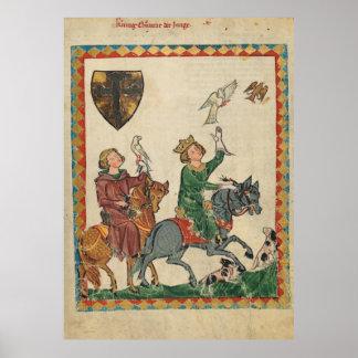Codex Manesse - König Konrad der Junge Poster