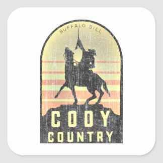 Cody Land Wyoming Quadratischer Aufkleber